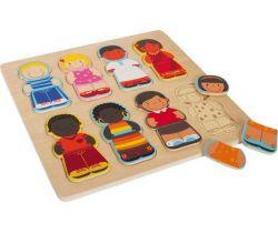 Vkladacie puzzle Small Foot Deti tohto sveta
