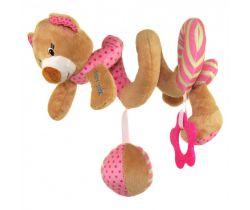 Špirálka BabyMix Medvedík růžový
