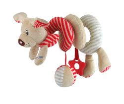 Špirálka do kočíka BabyMix Red Dog