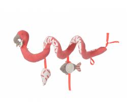 Špirálka do kočíka Kikadu Flamingo