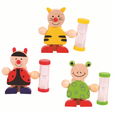 Stojanček na kefku s přesýpacíma hodinami 1 ks Bigjigs Toys