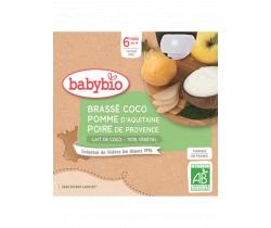 Desiata s kokosovým mliekom - jablko a hruška 4x85g Babybio