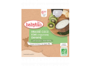 Desiata s kokosovým mliekom - kiwi a banán 4x85g Babybio