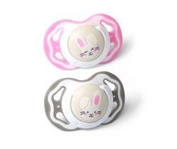 Symetrické silikónové cumlík BabyOno Pink Rabbit