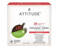 Tablety do umývačky bez fosfátov 26 ks Attitude
