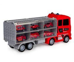 Ťahacie vozidlo s autíčkami EcoToys Fireman