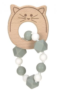 Hryzátko Lässig Teether Bracelet Wood / Silicone Little Chums