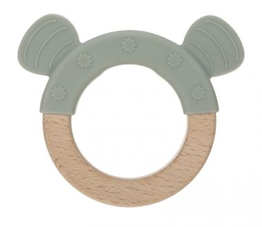 Hryzátko Lässig Teether Ring Wood/Silicone Little Chums