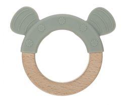 Hryzátko Lässig Teether Ring Wood/Silicone Little Chums