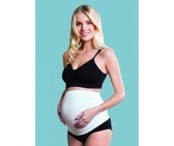 Tehotenský podporný pás cez bruško Carriwell Biela