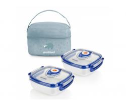 Termoizolačné puzdro + 2 hermetické misky na jedlo Miniland Baby