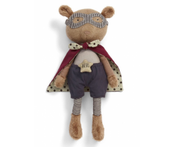 Textilná hračka Mamas & Papas Macko Superhero Pow