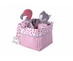 Textilná krabice Kikadu Flamingo