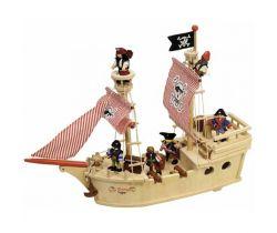 Drevená pirátska loď Tidlo