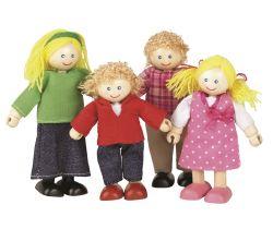 Drevené bábiky do domčeka Tidlo Rodina
