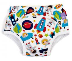 Učiace plienkové nohavičky Bambino Mio Outer Space