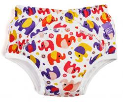 Učiace plienkové nohavičky Bambino Mio Pink Elephant