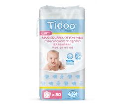 Ultra jemné bavlnené čistiace tampóny Tidoo Bio/Organic MAXI (50ks)