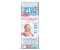 Ultra jemné bavlnené čistiace tampóny Tidoo Bio/Organic MAXI (80ks)