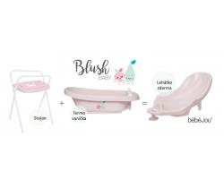 Termovanička + Ležadlo + Stojan na vaničku Bébé-jou Blush Baby