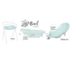 Termovanička + Ležadlo + Stojan na vaničku Bébé-jou Owl Family