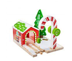 Vianočný žeriav Bigjigs Rail