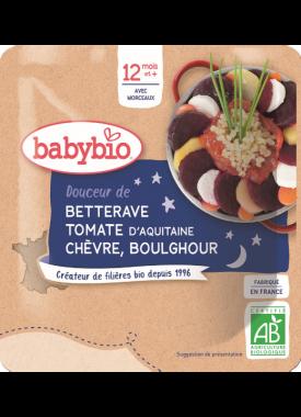 Večerné menu repa paradajka kozí syr bulgur 190g Babybio