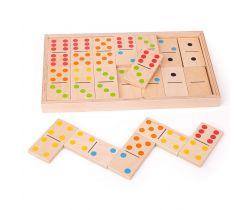 Veľké drevené domino Bigjigs Toys