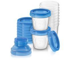 VIA poháriky s viečkami 10ks 180 ml + 2 ks adaptéry