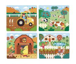 Drevené puzzle 4v1 Vilac Farma