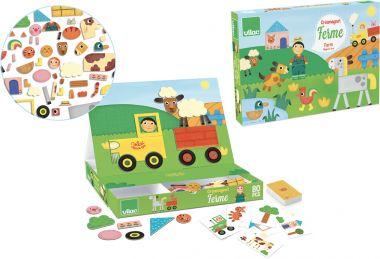 Kreatívna hra s magnetmi Vilaa Farma