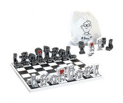 Moderné drevené šachy Vilac Keith Haring