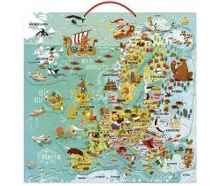 Nástenná magnetická mapa Európy Vilac