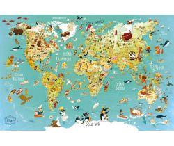 Puzzle Vilaca 500 dielikov Mapa sveta