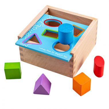 Vkladacia krabička s tvarmi Bigjigs Toys
