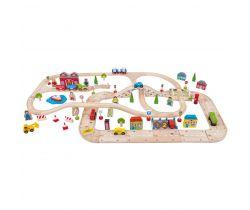 Vláčkodráha a autodráha Bigjigs Rail
