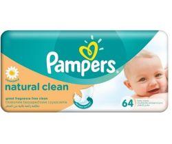 Vlhčené obrúsky 64 ks Pampers Natural Clean