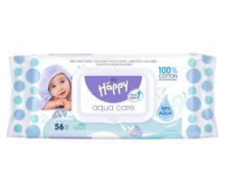 Vlhčené obrúsky Bella Baby Happy Aqua Care 56 ks