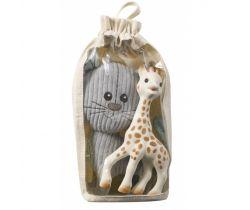Vulli Lazare kocour plyšová hračka + Sophie žirafa hrýzatko