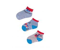 Vzorované ponožky YO Race 3 ks