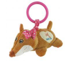 Plyšová závesná hračka s vibráciou BabyMix Fox Pink
