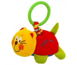 Závesná hračka s vibrácií BabyMix Red Cat