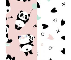Zavinovačka La Millou Baby Horn Love Panda Pink