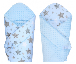 Zavinovačka mäkká minky LittleUp Blue Stars