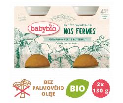 Zelená a maslová tekvica z vlastnej ekofarmy 2x130g Babybio