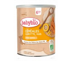 Zeleninová nemliečna kaša s mrkvou, kukuricou a quinou 220 g Babybio