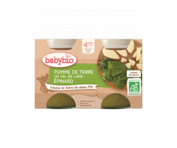 Zeleninový príkrm 2x130g Babybio Zemiaky so špenátom